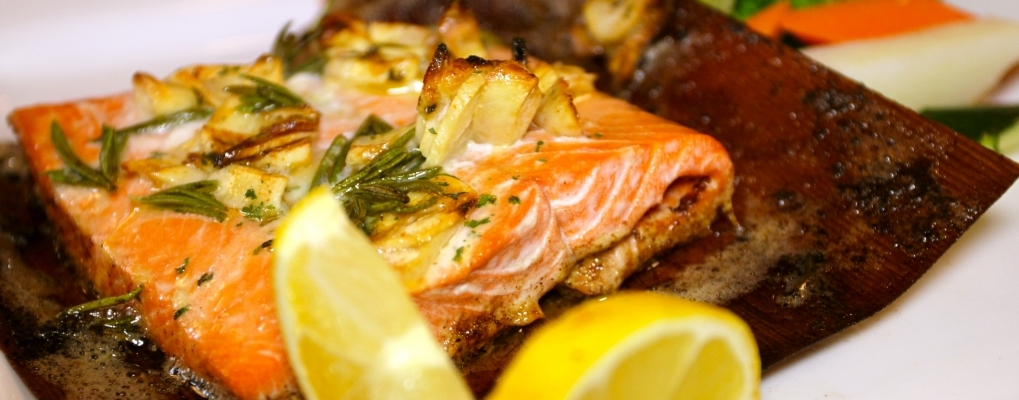 Salmone in carta Cedro